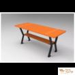 Gladiátor kültéri asztal fémvázas palisander szín