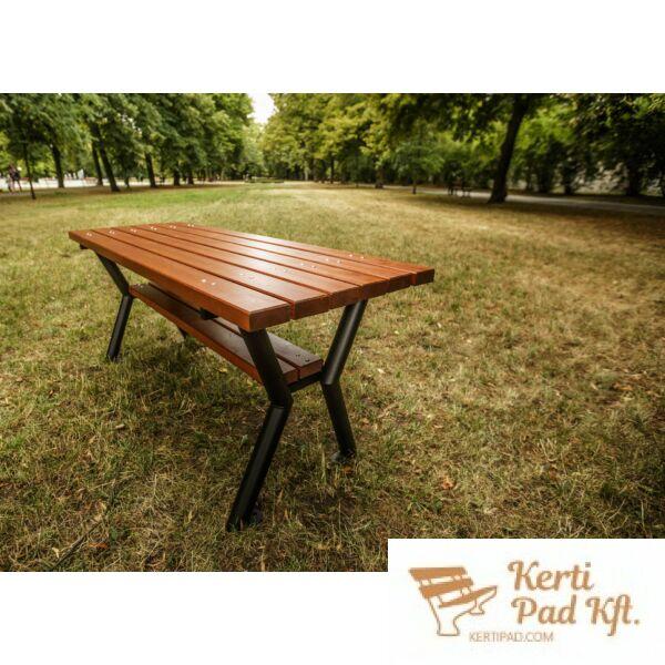 Gladiátor kültéri asztal kerti asztal fémvázas paliszander